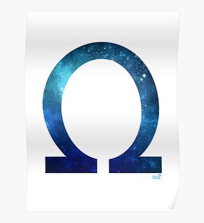 Omega letter space concept Poster