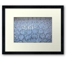 The glass is half full. Framed Print