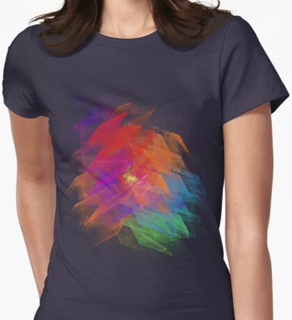 Apophysis Fractal Design - Enhanced Rainbow Flower Womens Fitted T-Shirt