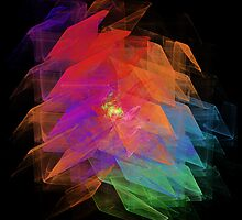 Apophysis Fractal Design - Enhanced Rainbow Flower  by iLikeGummybears