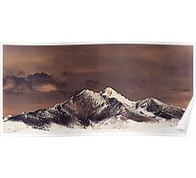 Rustic Mountain Poster