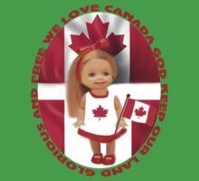 ✾◕‿◕✾ CANADIAN PATRIOTIC  GIRLS CHILDRENS TEE SHIRT ✾◕‿◕✾ Kids Tee