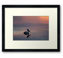 peachy pelican Framed Print