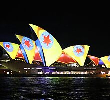 Vivid 2013: Sydney Opera House in Yellow by Kezzarama