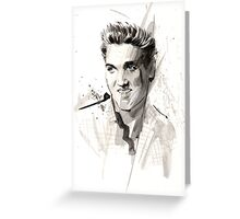 The King of Rock and roll...Elvis Greeting Card