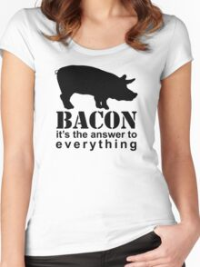 Bacon - The Answer to Everything Women's Fitted Scoop T-Shirt