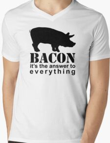 Bacon - The Answer to Everything Mens V-Neck T-Shirt