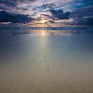 footprints in the sand by Paul Campbell  Photography