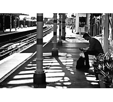 Waiting at Hove Train Station Photographic Print
