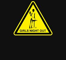 Funny Girls' Night Out Hazard Sign Womens Fitted T-Shirt