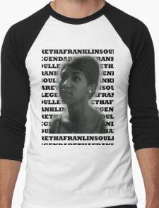 Aretha Franklin Soul Legend Men's Baseball ¾ T-Shirt