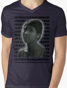 Aretha Franklin Soul Legend Mens V-Neck T-Shirt
