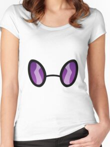 Vinyl Scratch goggles Women's Fitted Scoop T-Shirt