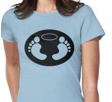 Feet 'n Halo | Black bg Womens Fitted T-Shirt