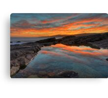 Boat Harbour Sunset. Canvas Print