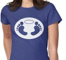 Feet 'n Halo | White bg Womens Fitted T-Shirt