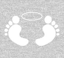 Feet 'n Halo | White One Piece - Long Sleeve
