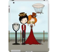 Steampunk Promenade Cartoon Illustration iPad Case/Skin