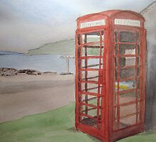 Phone Box at Diabaig by Jennifer J Watson