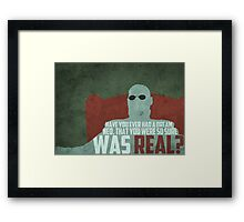 The Matrix - Morpheus: Ever had a dream... Framed Print