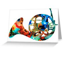 French Horn - Colorful Music by Sharon Cummings Greeting Card