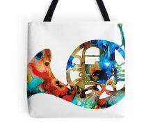 French Horn - Colorful Music by Sharon Cummings Tote Bag