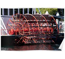 Steamer Paddle Wheel Poster