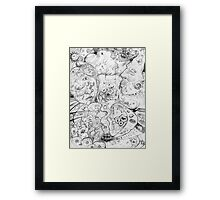 Grandmother, Grandfather  |  pen & ink Framed Print