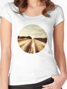 the road to somewhere Women's Fitted Scoop T-Shirt