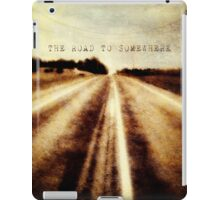 the road to somewhere iPad Case/Skin
