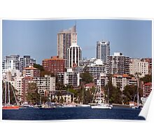 Sydney Harbor and Cityscape Poster