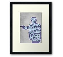 Pulp Fiction - Jules: They Speak English in What? Framed Print