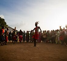 Ugandan dance circle in the dust by mirandagrant