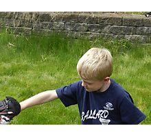 Baseball in the Back Yard Photographic Print