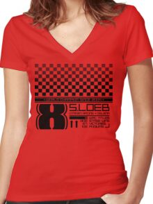 DS3 Racing Loeb Edition, Roof Design Women's Fitted V-Neck T-Shirt