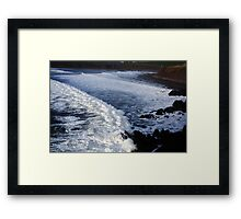 Rolling Waves Framed Print