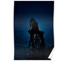 Blue Fountain Poster
