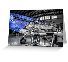P51 Mustang Fighter plane Greeting Card