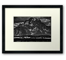 Mount Moran - Grand Teton National Park Framed Print