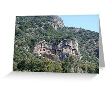 Dalyan Tombs III Greeting Card