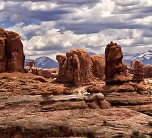 Arches Formations by Kathy Weaver