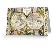 World Map 1755 Greeting Card