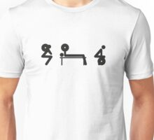 Squat Bench Deadlift (inverted) Unisex T-Shirt