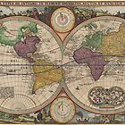 World Map 1657 by VintageLevel