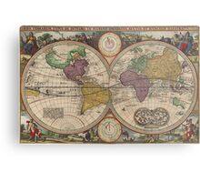 World Map 1657 Metal Print