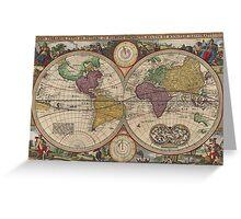 World Map 1657 Greeting Card