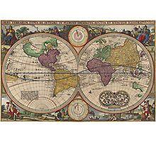 World Map 1657 Photographic Print
