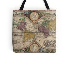 World Map 1657 Tote Bag