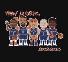 NBAToon of Jason Kidd, Iman Shumpert, JR Smith, Carmelo Anthony, Tyson Chandler, player of New York Knicks by D4RK0