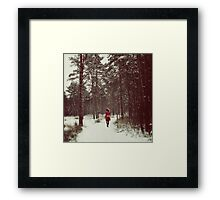 Her Winter of Red Framed Print